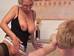 German Milf In Stockings Goes Anal